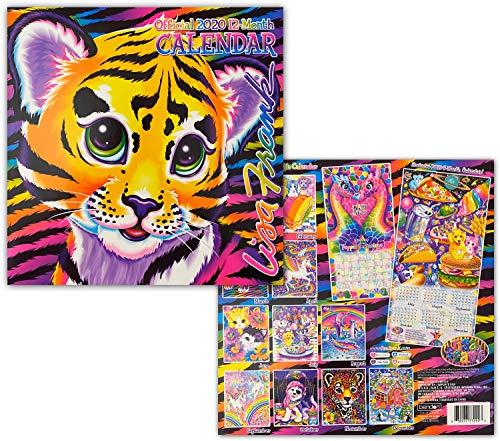"Lisa Frank Whimsical Pop Art 2020 Monthly Calendar - Twelve Months/Year 10"" x 10"" Home and School"