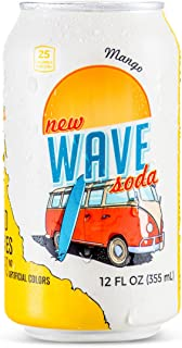 Wave Soda Sparkling Juice, Mango, 12 Ounce Cans (Pack of 12)