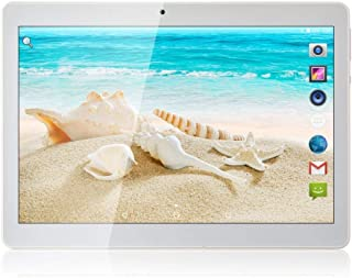Android 8.1 Tablet 10 inch with Sim Card Slots 2GB RAM 32GB ROM Octa Core 3G Unlocked GSM Phone Tablet PC Built in WiFi Bluetooth GPS (Metal Silver)