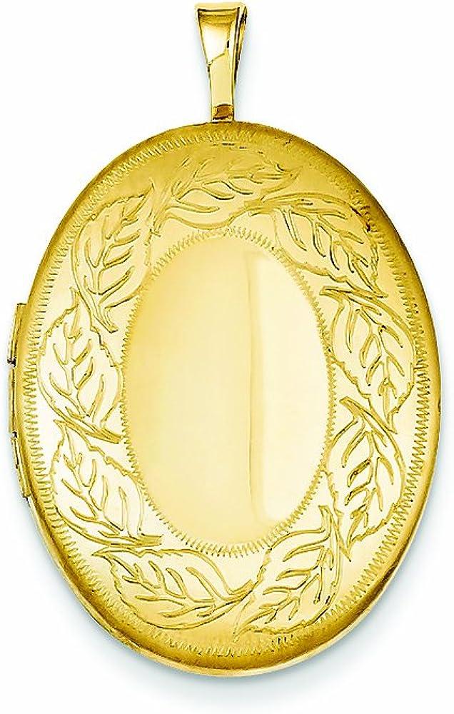 Finejewelers 1 20 Gold Filled 20mm mart Neckl Leaf Border At the price of surprise Oval Locket