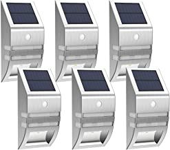 MEIHONG 6 Pack LED Outdoor Lights, Solar Motion Sensor Lights Outdoor, Solar Powered LED Accent Lights, Solar Powered Security Lights Waterproof for Front Door Patio Deck Yard Garden Fence Porch