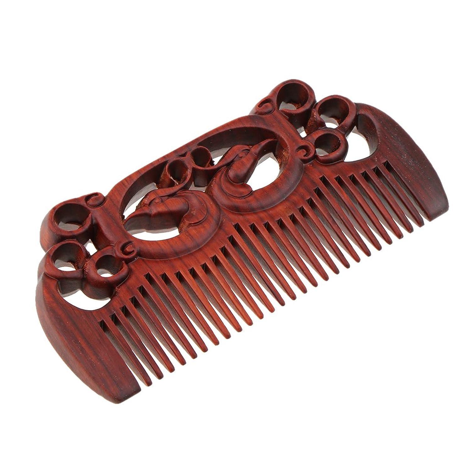 支援する挨拶するプレゼンターSM SunniMix 木製コーム ウッドコーム ワイド歯 ヘアブラシ 頭皮マッサージ ヘアスタイリング 全2種類 - #1