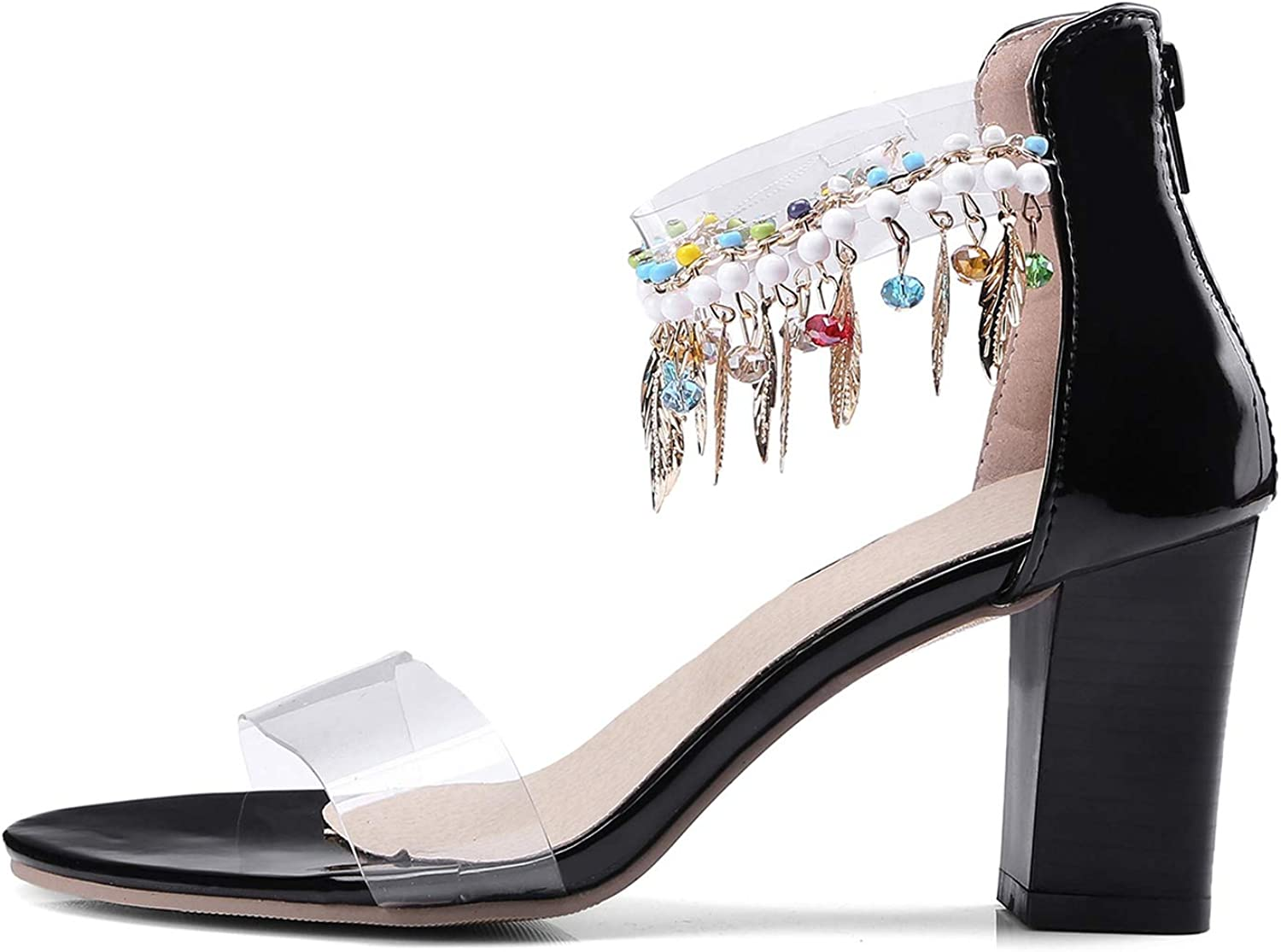Meet at Summer-heeled samndals High Heels Sandals Concise Solid PVC Open Toe Sexy Women's Party Sandal