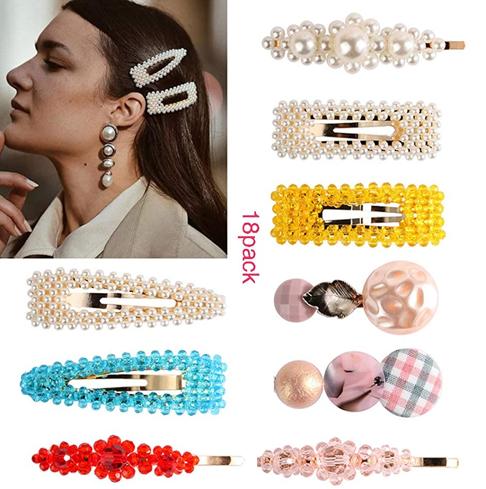 HUA 18 Pcs Fashion Color Hairpin Children Hairpin Ladies and Girls Fashion Accessories
