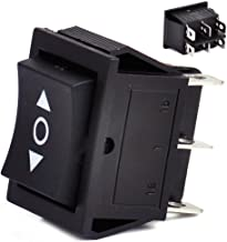 beler Boat 6 Pins DPDT 3 Position On-Off Momentary Power Window Rocker Switch Control Button (Fulfilled by Amazon)