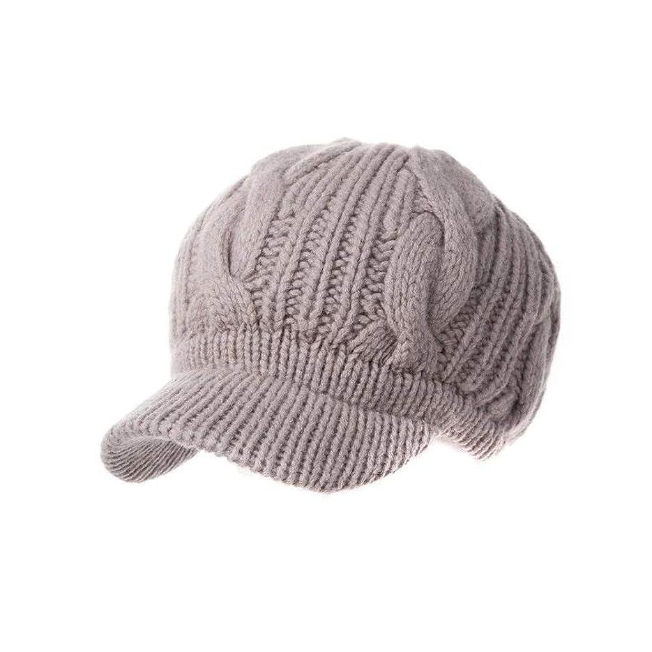 ギャラリー花火天気K-P-H さんウールキャップファッションの帽子の冬の暖かい帽子ニット帽子ジェーンYuebeiレイキャップ (Color : Pink)