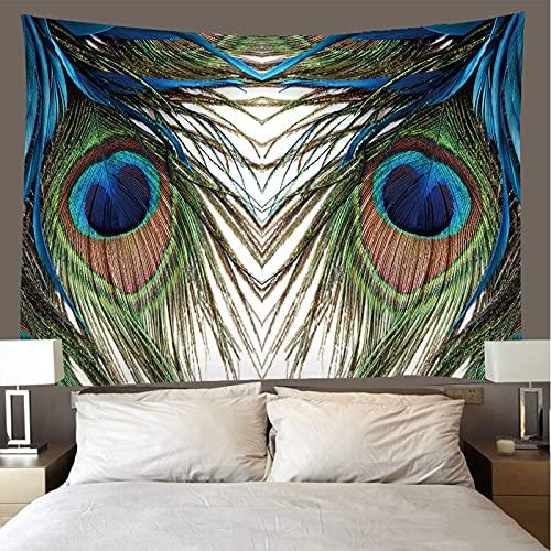 binghongcha 3D Tapestry Beautiful Feathers A2226 Mandalatapestries Yoga Mat Beach Towel Blanket,Picnic Beach Sheet, Table Cloth, Boho,Decorative Wall Hanging 150(H) X150(W) Cm