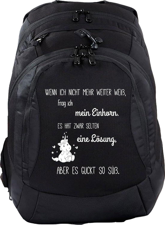 Mein Zwergenland Schulrucksack Teen Compact, 26 L, Schwarz, Wenn Wenn Wenn ich Nicht mehr weiter Weiss B077B9QQN4 | Gewinnen Sie hoch geschätzt  8faea5