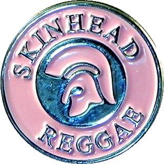 Mainly Metal - Spilla pin con elmo troiano e corona d'alloro, colore: rosa