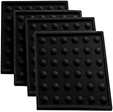 Lamson Little HotSpot Coasters, Set of 4, Black, 4 x 4, Silicone