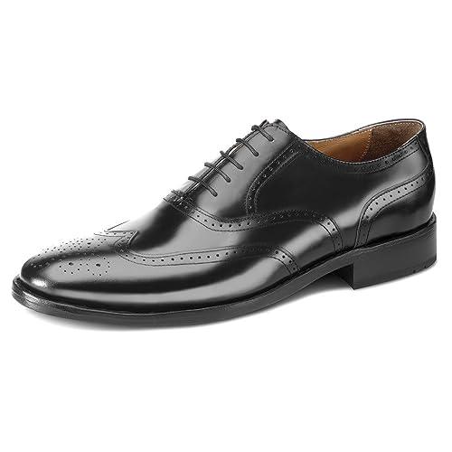 276c0567ac56 Samuel Windsor Men s Handmade Goodyear Welted Leather Cheltenham Brogue Shoe  Brown