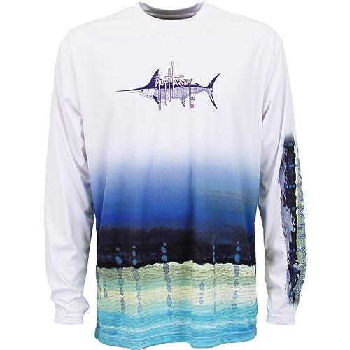 2da997b5dcc4 Guy Harvey Long Sleeve Performance Marlin T-shirt
