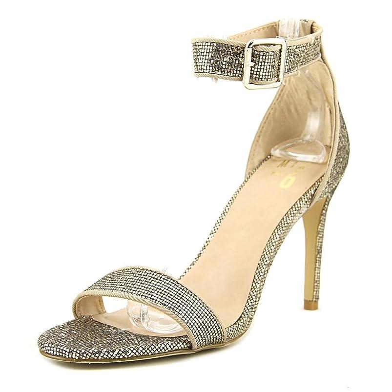 飛ぶ若者電池Mix No 6 Womens Laela Open Toe Special Occasion Ankle Strap Sandals, Gold, Size 7.5