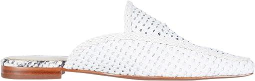 Bright White Zebu Woven Leather