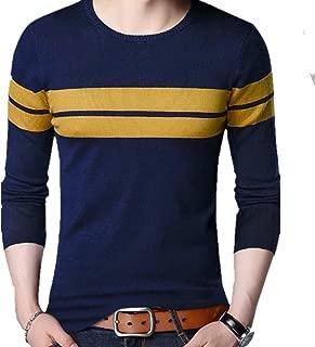 Leotude Men's High Neck Cotton T-Shirt