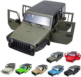 313MM Wheelbase Body Shell for 1/10 RC Car Jeep Wrangler SCX10 II 90046 90047 (White)