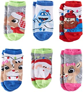 Girls 4-6x Rudolph the Red Nosed Reindeer 6-pk. No-Show Socks Size 6-7.5