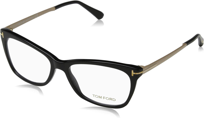 Now free shipping TOM FORD Max 64% OFF Eyeglasses FT5353 Shiny 001 Black