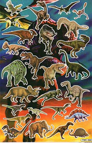 dinosaures Animaux Decal autocollant de décalque 1 Dimensions de la feuille: 27 cm x 17 cm