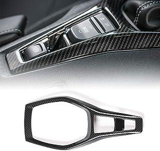 CheroCar Gears Shift Panel Trim Cover Dash Board Carbon Fiber Grain Frame Decor Sticker For Chevrolet Camaro 2017+ Interior Decoration Accessories,1PC