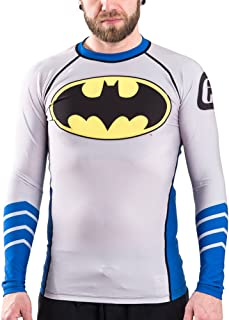 Batman Silver Age Logo BJJ Rash Guard Compression Shirt