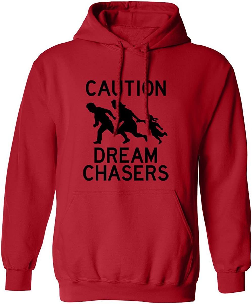 Caution Dream Chasers Adult Hooded Sweatshirt in Red - XXXXX-Large