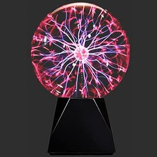 Lebbeen Glass Plasma Ball Sphere Lightning Light Lamp Party magical ball electrostatic falshing ball (6.0 Inches)