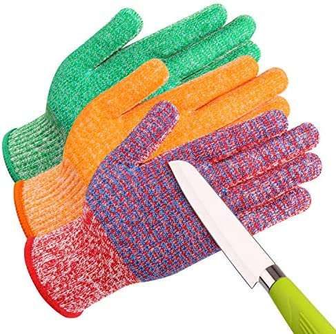 JH C0224LA Cut Resistant Gloves 3 Color with Red for Meat Green for Veg Yellow for Fruit High product image