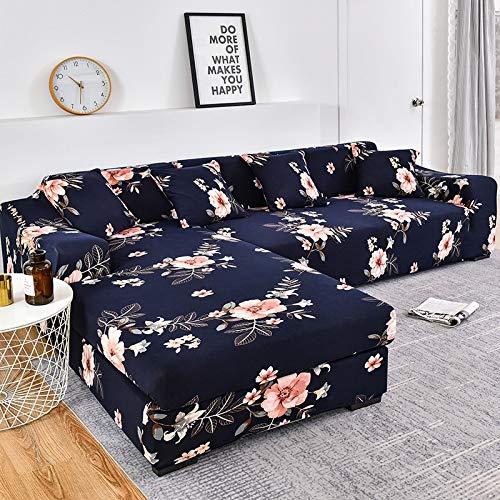 WXQY Funda de sofá en Forma de L Funda de sofá elástica Funda de sofá elástica Esquina de Toalla de sofá Todo Incluido Funda de sofá Funda de Chaise Longue A3 1 Plaza