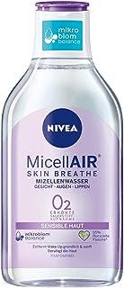 NIVEA Micellair Skin Breathe Mizellenwasser Sensible Haut 400 ml, pflegender Make-Up Entferner mit Dexpanthenol und Traubenkernöl, schonende Gesichtsreinigung