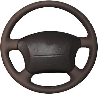 XuJi Hand Sewing Genuine Leather Steering Wheel Cover for TToyota Land Cruiser Prado 120 / Land Cruiser 2003-2007 / Tacoma 2005-2011 / 4Runner 2009 / Hilux 2009-2011 / for Lexus LS400 1995 /