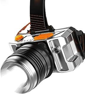 CJDM Lampe Frontale Portable d'extérieur à lumière puissante et Longue portée, Lampe de Poche à LED Rechargeable par USB, ...