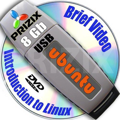 Preisvergleich Produktbild Ubuntu 17.04 auf 8GB USB Stick Flash Drive und komplettes Installations- and Referenz- Set 3 DVD