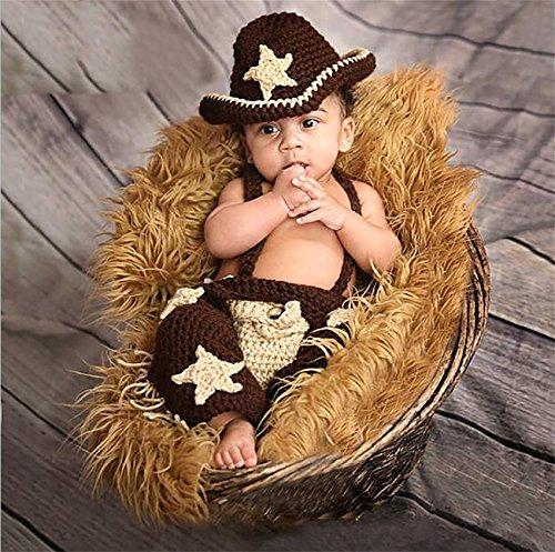 PEPEL Bébé bébé Photo Fils Cartoon Cowboy vêtements de Tricotage de vêtements