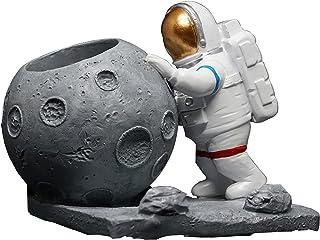 DEECOZY Astronaut pennhållare, DEECOZY astronaut penna och blyertspenna kopphållare rymdman skrivbordsdekoration penna smi...