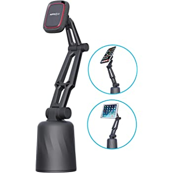 APPS2Car Car Cup Holder Cell Phone Mount Cup Holder Phone Mount Magnetic Cup Holder Phone Mount for Car/&Truck New Generation Built-in 6 Strong Magnets Cup Holder Mount for Phone /& Mini Tablet