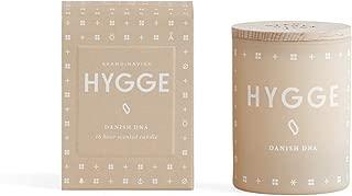 SKAN D · NA VISK Skandinavisk Hygge (Cosy Living) Scented Candle, Cream Mini 55gr - Black Tea, Mint, Rose, Strawberry Fragranced Candle