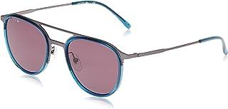 نظارة شمسية بيضاوية الشكل للرجال بتصميم كاجوال انيق من لاكوست باللون الرمادي