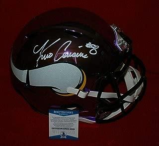 Kirk Cousins Signed Helmet - Full Size CHROME Beckett witnessed - Beckett Authentication - Autographed NFL Helmets