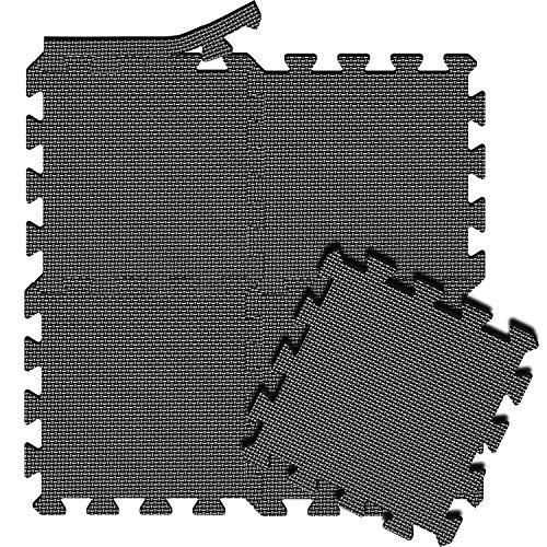 arteesol Schutzmatte Set, Bodenschutzmatte Puzzlematten Trainingsmatten 18pcs Schalldämpfend Wasserdichte Unterlegmatte Anti-rutsch Gymnastikmatten Für Sport Fitnessgeräte Garage Fitness Pool