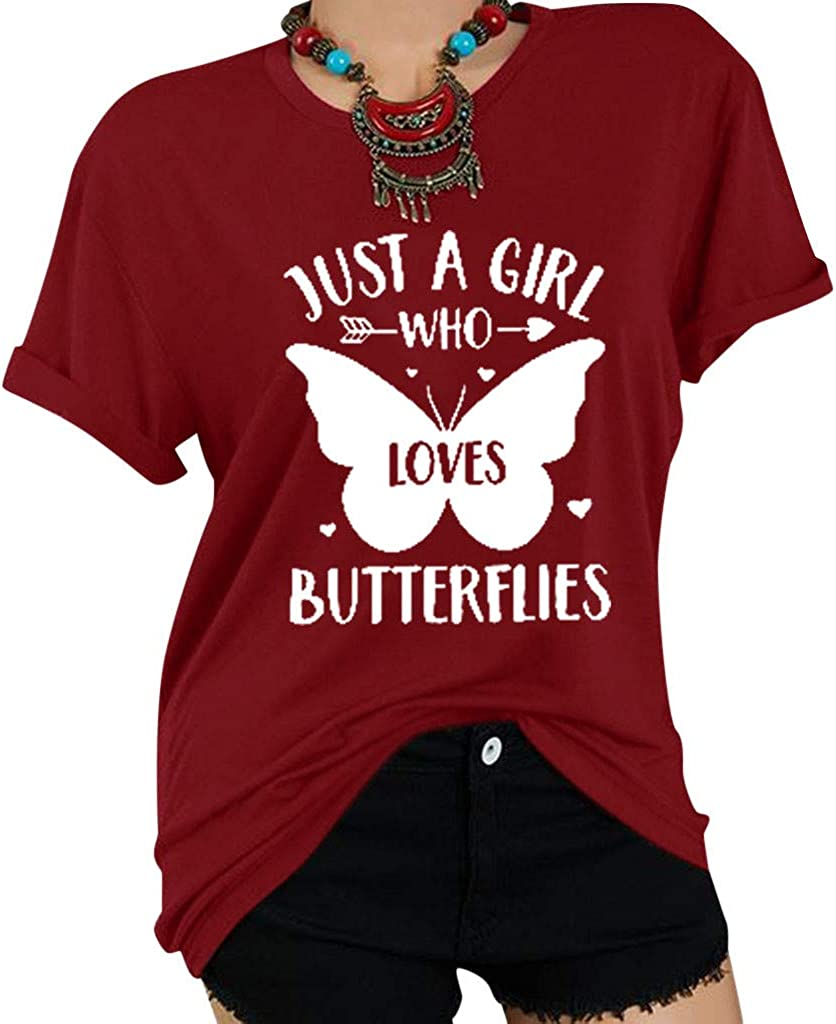 Weginte Women T Max 69% OFF Shirts Popular Casual Summer O Short Sleeve Neck Letter