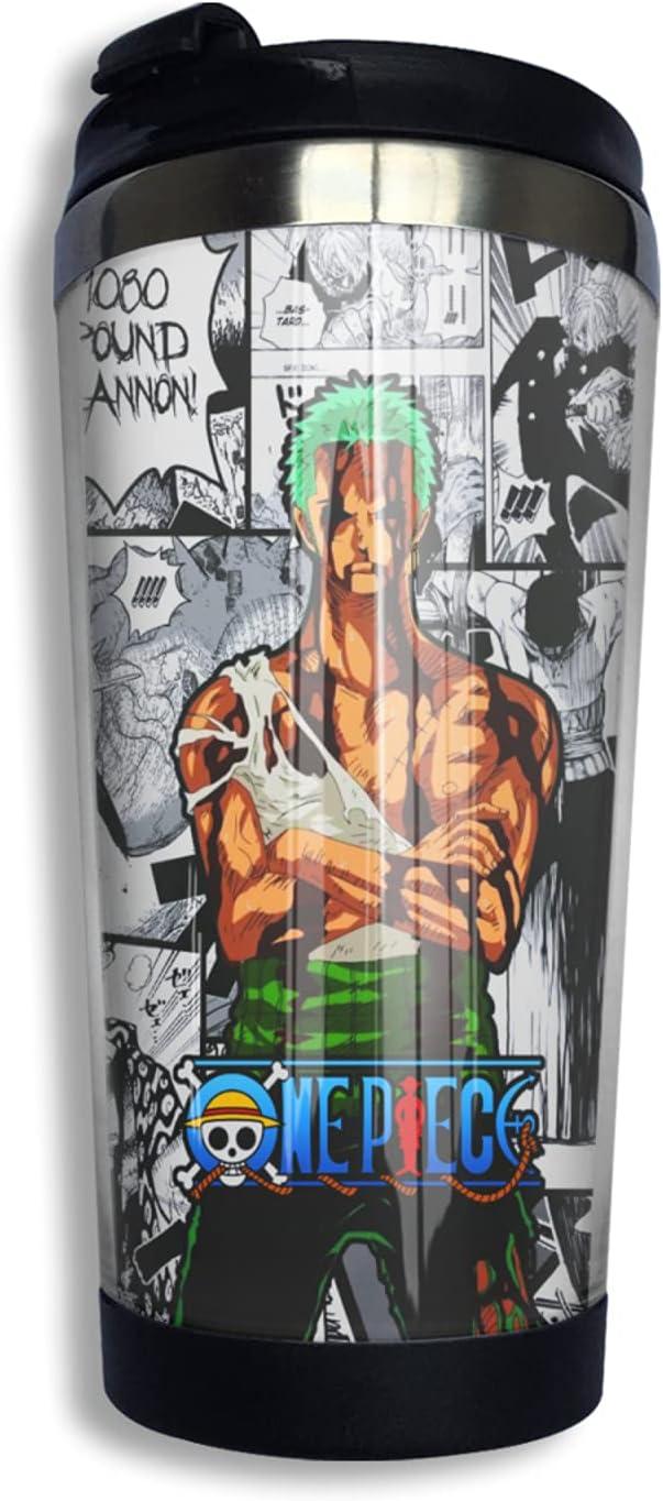 One Piece Samurai Roronoa Zoro Anime 3d NEW Coffee Cup Thermos shopping Print