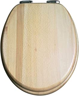 Toiletbril Log Massief houten toiletdeksel met vertragen dempen toiletstoelbekleding Verdikte bovengemonteerde badkamerdek...