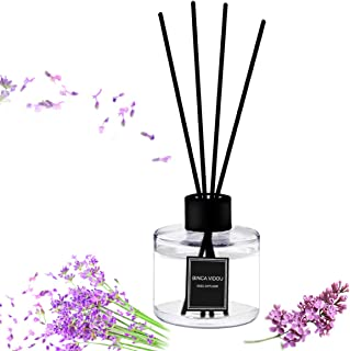 binca vidou Reed Diffuser Set Lavender Reed Oil Diffusers for Bedroom Living Room Office Aromatherapy Oil for Gift Idea & Stress Relief 120 ml/4.09 oz