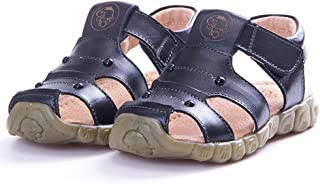Baviue Leather Outdoor Athletic Little Kids Toddler Sandals for Boys