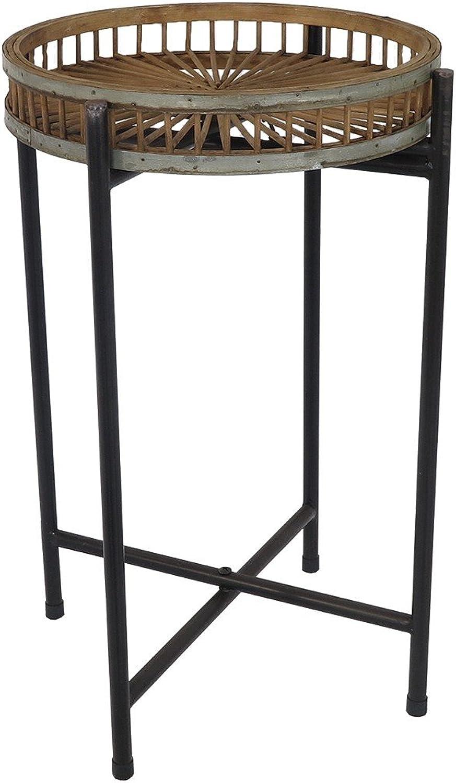 Avante Side Table LAMP NIGHTSTAND Metal Black 38X57CM