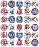 30 obleas comestibles de papel de la Patrulla Canina Skye Everest para cupcakes