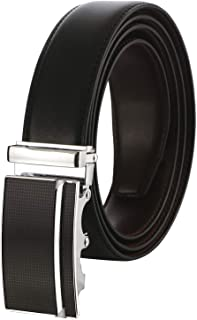Labnoft Men's Reversible PU Leather Belt with Automatic Buckle, Black and Brown, Free Size