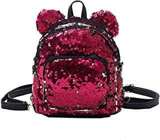 Backpack Deals,Fashion Lady Sequins Panelled School Backpack Satchel Girls Student Travel Small Shoulder Bags