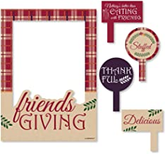 Big Dot of Happiness Friends Thanksgiving Feast - Friendsgiving Party Selfie Photo Booth Picture Frame and Props - Printed on Sturdy Material